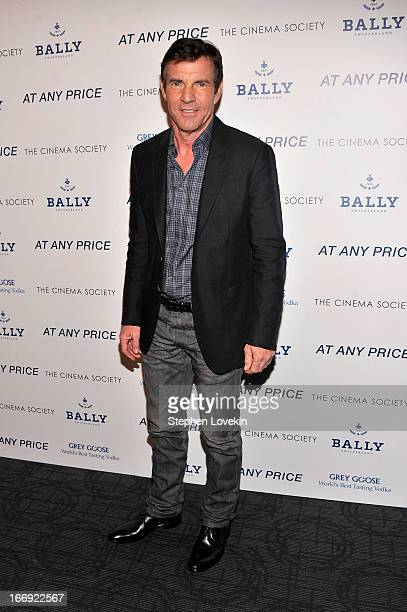 Actor Dennis Quaid attends the Cinema Society Bally screening of Sony Pictures Classics' 'At Any Price' at Landmark Sunshine Cinema on April 18 2013...