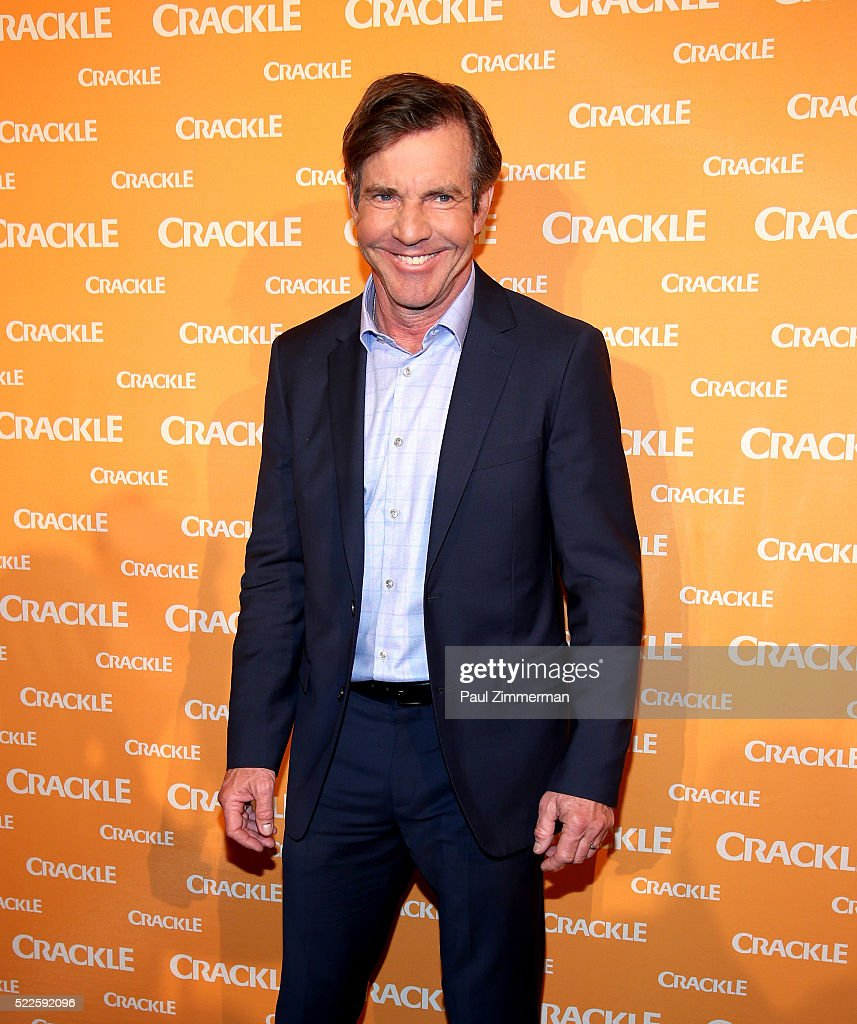 Actor Dennis Quaid attends the Crackle's 2016 Upfront Presentation at New York City Center on April 20 2016 in New York City