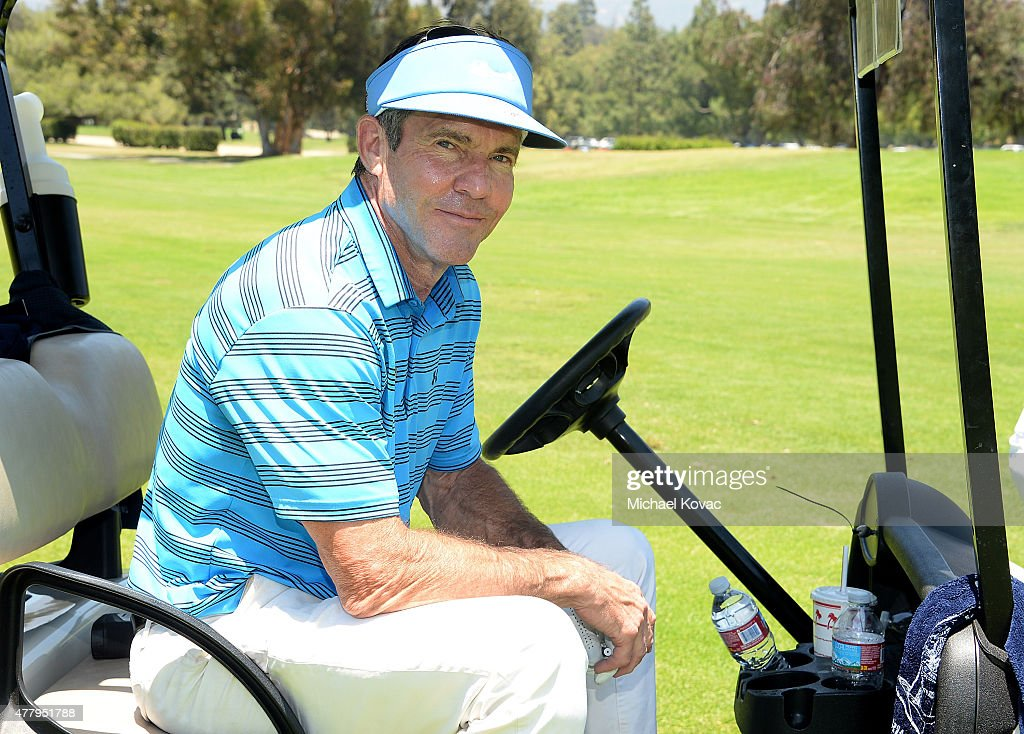 Actor <a gi-track='captionPersonalityLinkClicked' href=/galleries/search?phrase=Dennis+Quaid&family=editorial&specificpeople=201916 ng-click='$event.stopPropagation()'>Dennis Quaid</a> attends the Los Angeles Police Memorial Foundation Celebrity Golf Tournament at Brookside Golf Club on June 20, 2015 in Pasadena, California.