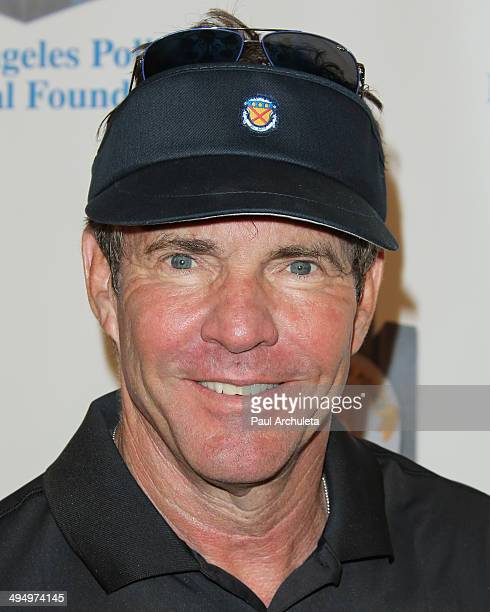 Actor Dennis Quaid attends the Los Angeles Police Memorial Foundation Celebrity Golf Tournament Family Fun Day at Brookside Golf Club on May 31 2014...