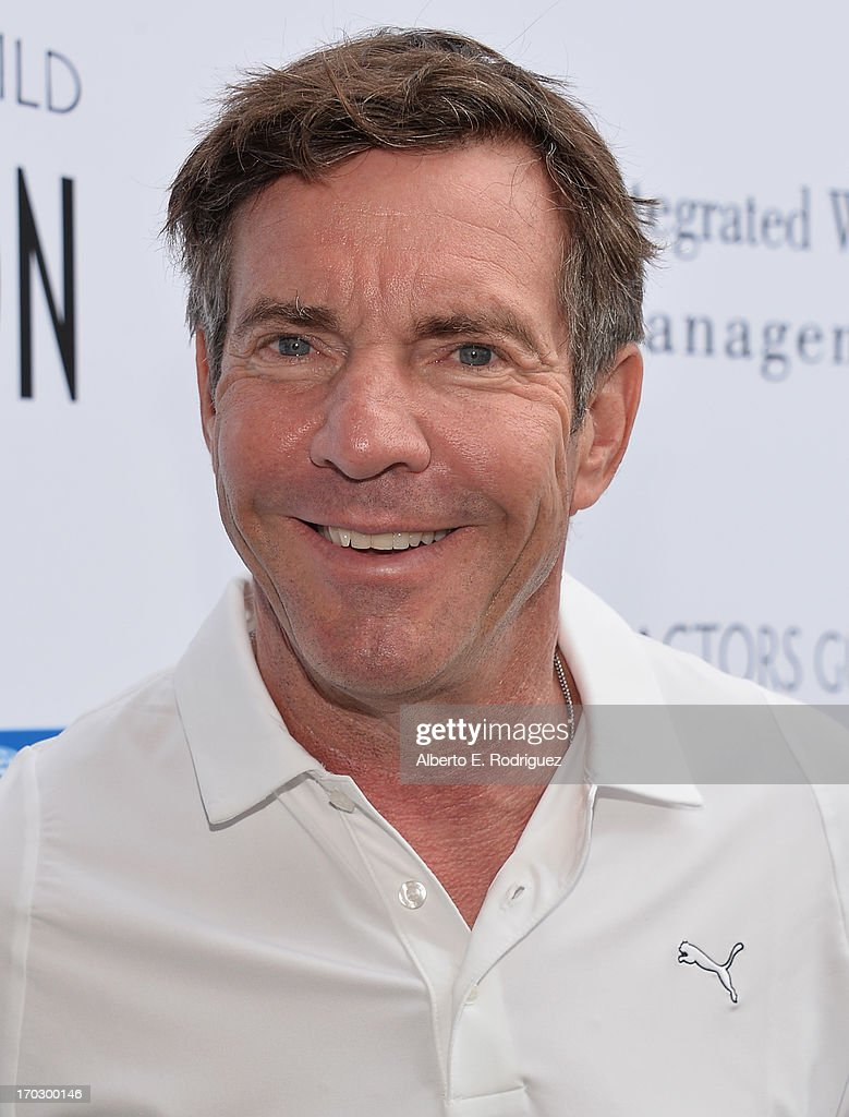 Actor <a gi-track='captionPersonalityLinkClicked' href=/galleries/search?phrase=Dennis+Quaid&family=editorial&specificpeople=201916 ng-click='$event.stopPropagation()'>Dennis Quaid</a> attends the Screen Actors Guild Foundation 4th Annual Los Angeles Golf Classic at Lakeside Golf Club on June 10, 2013 in Burbank, California.