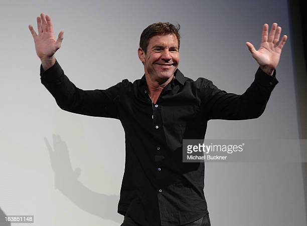 Actor Dennis Quaid speaks at the screening for 'At Any Price' during the 2013 SXSW Music Film Interactive Festival at the Paramount Theatre on March...