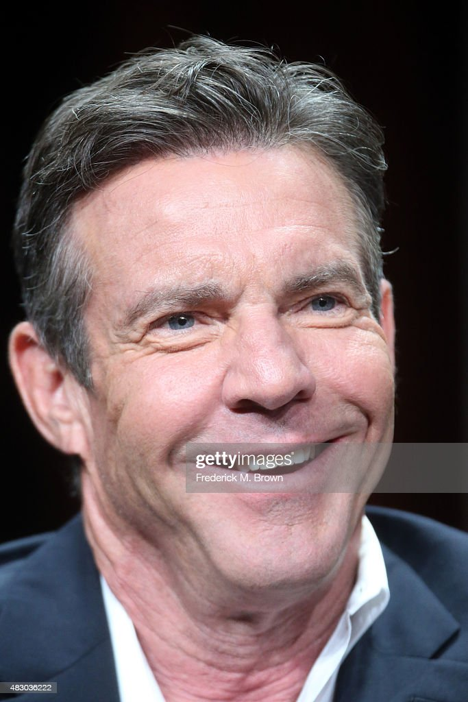 Actor <a gi-track='captionPersonalityLinkClicked' href=/galleries/search?phrase=Dennis+Quaid&family=editorial&specificpeople=201916 ng-click='$event.stopPropagation()'>Dennis Quaid</a> speaks onstage during 'The Art of More' panel discussion at the Crackle portion of the 2015 Summer TCA Tour at The Beverly Hilton Hotel on August 5, 2015 in Beverly Hills, California.