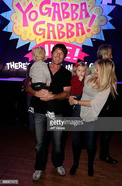 ACCESS*** Actor Dennis Quaid wife Kimberly Quaid and children attend the first ever Yo Gabba Gabba 'There's A Party In My City' live performance at...