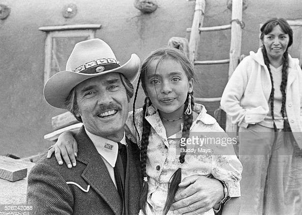 Actor Dennis Weaver 19242006 at the north Pueblo at Taos Indian Pueblo New Mexico Weaver was visiting Taos to promote his TV series McCloud