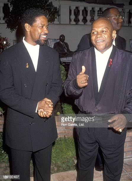 Actor Denzel Washington and Actor Charles S Dutton attend the Fundraiser to help benefit The Gathering Place a center for moms and children with AIDS...