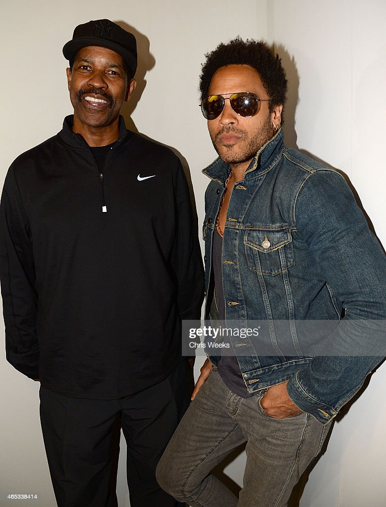 Actor <a gi-track='captionPersonalityLinkClicked' href=/galleries/search?phrase=Denzel+Washington&family=editorial&specificpeople=171332 ng-click='$event.stopPropagation()'>Denzel Washington</a> and music recording artist <a gi-track='captionPersonalityLinkClicked' href=/galleries/search?phrase=Lenny+Kravitz&family=editorial&specificpeople=171613 ng-click='$event.stopPropagation()'>Lenny Kravitz</a> attends 'Flash' by <a gi-track='captionPersonalityLinkClicked' href=/galleries/search?phrase=Lenny+Kravitz&family=editorial&specificpeople=171613 ng-click='$event.stopPropagation()'>Lenny Kravitz</a> presented by Leica at Leica Store LA on March 5, 2015 in Los Angeles, California.