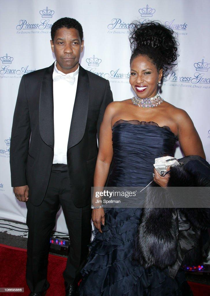 Actor Denzel Washington and Pauletta Washington attend the 2010 Princess Grace Awards Gala at Cipriani 42nd Street on November 10, 2010 in New York City.