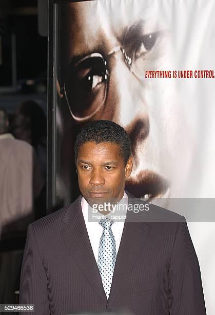 Actor Denzel Washington arrives at the premiere of 'The Manchurian Candidate' in Los Angeles