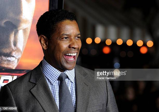Actor Denzel Washington arrives at the premiere of Twentieth Century Fox's 'Unstoppable' at Regency Village Theater on October 26 2010 in Westwood...