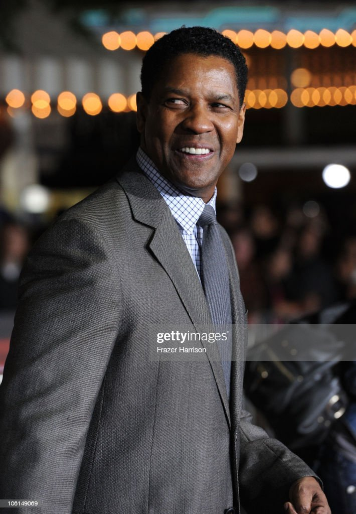 Actor Denzel Washington arrives at the premiere of Twentieth Century Fox's 'Unstoppable' at Regency Village Theater on October 26, 2010 in Westwood, California.