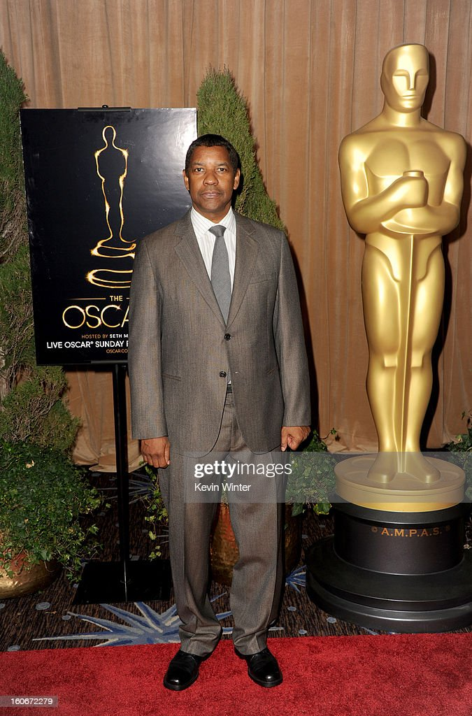 Actor <a gi-track='captionPersonalityLinkClicked' href=/galleries/search?phrase=Denzel+Washington&family=editorial&specificpeople=171332 ng-click='$event.stopPropagation()'>Denzel Washington</a> attends the 85th Academy Awards Nominations Luncheon at The Beverly Hilton Hotel on February 4, 2013 in Beverly Hills, California.