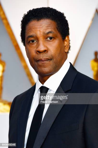 Actor Denzel Washington attends the 89th Annual Academy Awards at Hollywood Highland Center on February 26 2017 in Hollywood California