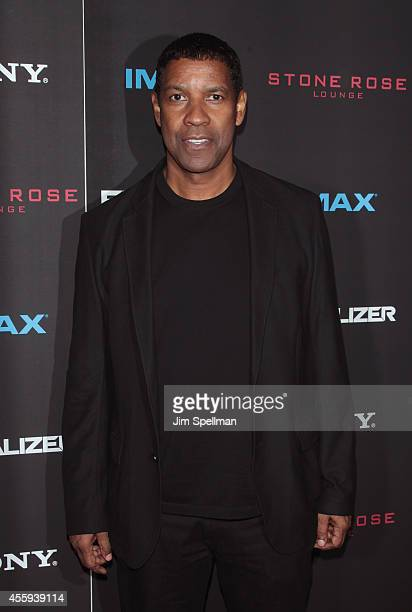 Actor Denzel Washington attends 'The Equalizer' New York Screening at AMC Lincoln Square Theater on September 22 2014 in New York City