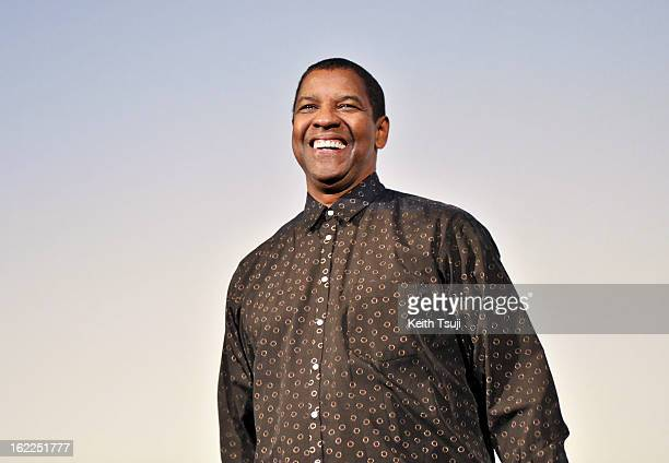 Actor Denzel Washington attends the 'Flight' Japan Premiere at Marunouchi Piccadilly on February 21 2013 in Tokyo Japan The film will open on March 1...
