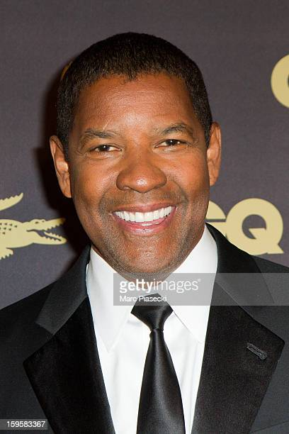 Actor Denzel Washington attends the GQ Men of the Year 2012 at Musee d'Orsay on January 16 2013 in Paris France