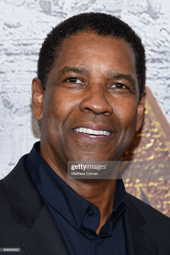 Actor Denzel Washington attends 'The Magnificent Seven' New York Premiere at the Museum of Modern Art on September 19, 2016 in New York City.
