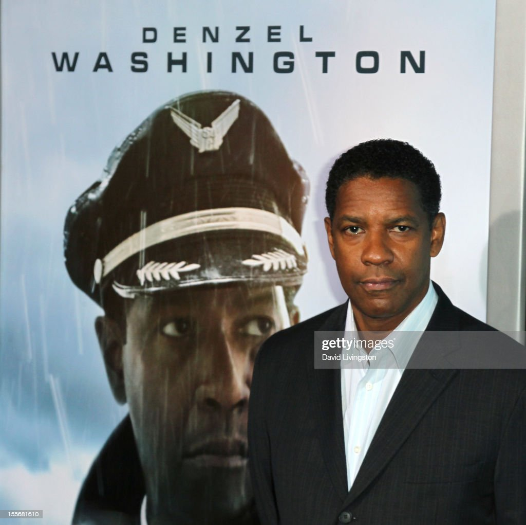 Actor <a gi-track='captionPersonalityLinkClicked' href=/galleries/search?phrase=Denzel+Washington&family=editorial&specificpeople=171332 ng-click='$event.stopPropagation()'>Denzel Washington</a> attends the premiere of Paramount Pictures' 'Flight' at ArcLight Cinemas on October 23, 2012 in Hollywood, California.