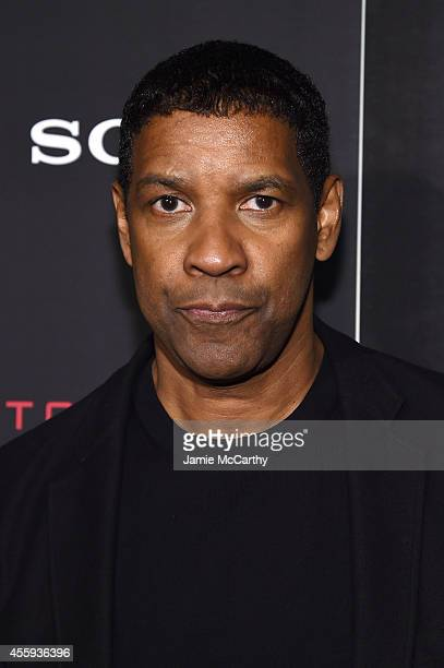 Actor Denzel Washington attends the 'The Equalizer' New York premiere at AMC Lincoln Square Theater on September 22 2014 in New York City