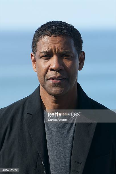 Actor Denzel Washington attends the 'The Equalizer' photocall during the 62st San Sebastian International Film Festival at the Kursaal Palace on...