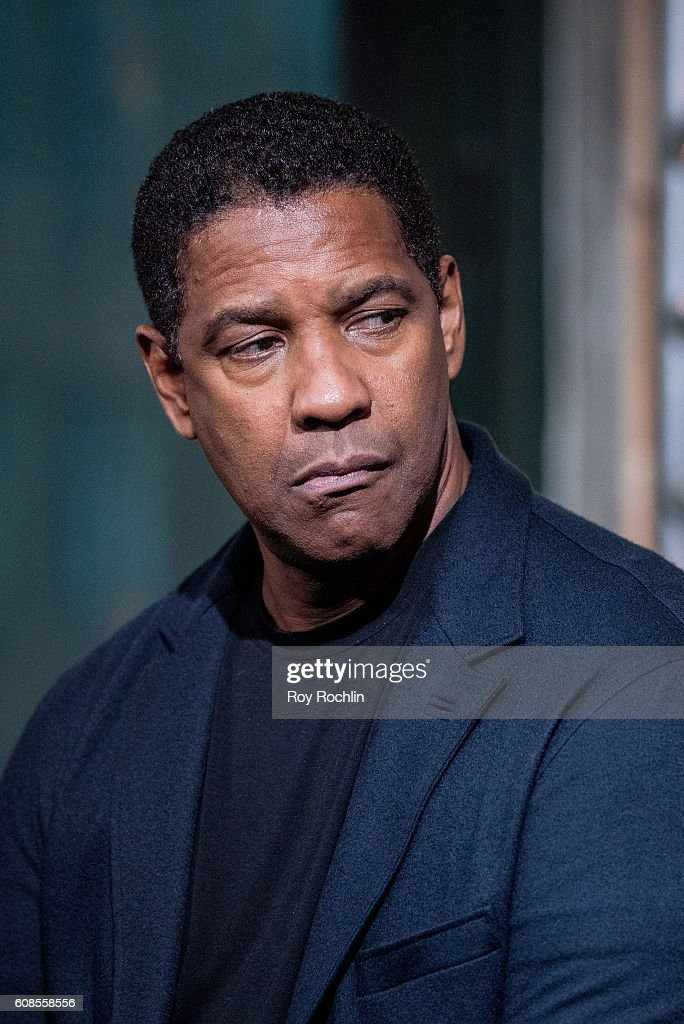 Actor Denzel Washington discusses 'The Magnificent Seven' during AOL Build at AOL HQ on September 19, 2016 in New York City.