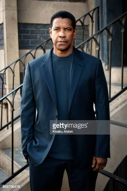 Actor Denzel Washington is photographed for Essence Magazine on October 1 2016 in Los Angeles California