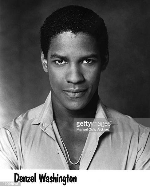 Actor Denzel Washington poses for a publicity headshot circa 1980 in Los Angeles California