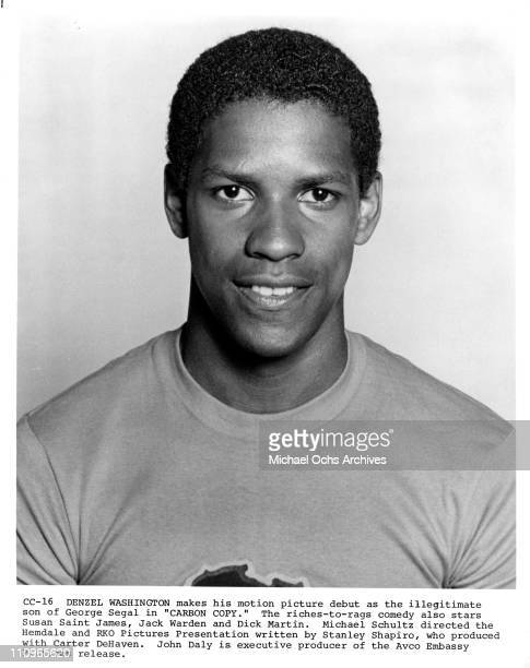 Actor Denzel Washington poses for a publicity still for his first feature film 'Carbon Copy' produced by Hemdale and RKO in 1981 in Los Angeles...
