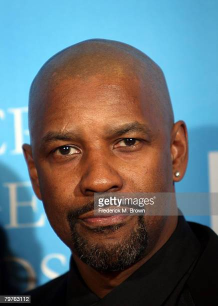 Actor Denzel Washington poses in the press room at the 39th NAACP Image Awards held at the Shrine Auditorium on February 14 2008 in Los Angeles...