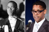In this composite image a comparison has been made between Malcolm X and Actor Denzel Washington Oscar hype begins this week with the announcement of...