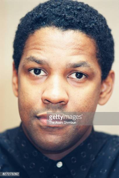 Actor Denzel Washington speaks during the Asahi Shimbun interview on February 9 1993 in Tokyo Japan