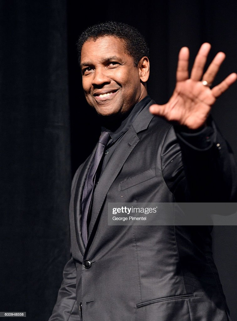 Actor Denzel Washington speaks onstage at 'The Magnificent Seven' premiere during the 2016 Toronto International Film Festival at Roy Thomson Hall on September 8, 2016 in Toronto, Canada.