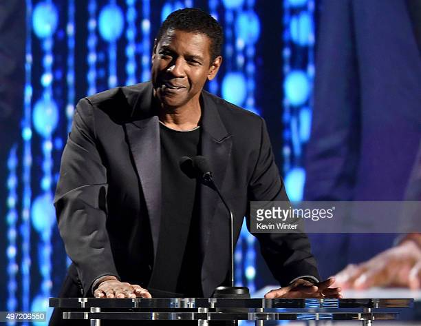 Actor Denzel Washington speaks onstage during the Academy of Motion Picture Arts and Sciences' 7th annual Governors Awards at The Ray Dolby Ballroom...
