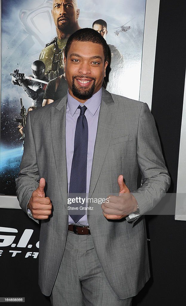 Actor DeRay Davis attends the 'G.I. Joe: Retaliation' Los Angeles Premiere at TCL Chinese Theatre on March 28, 2013 in Hollywood, California.