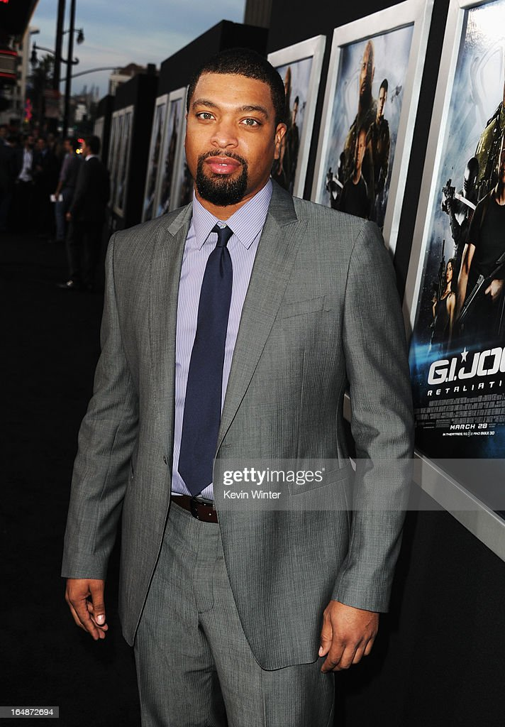 Actor DeRay Davis attends the premiere of Paramount Pictures' 'G.I. Joe:Retaliation' at TCL Chinese Theatre on March 28, 2013 in Hollywood, California.
