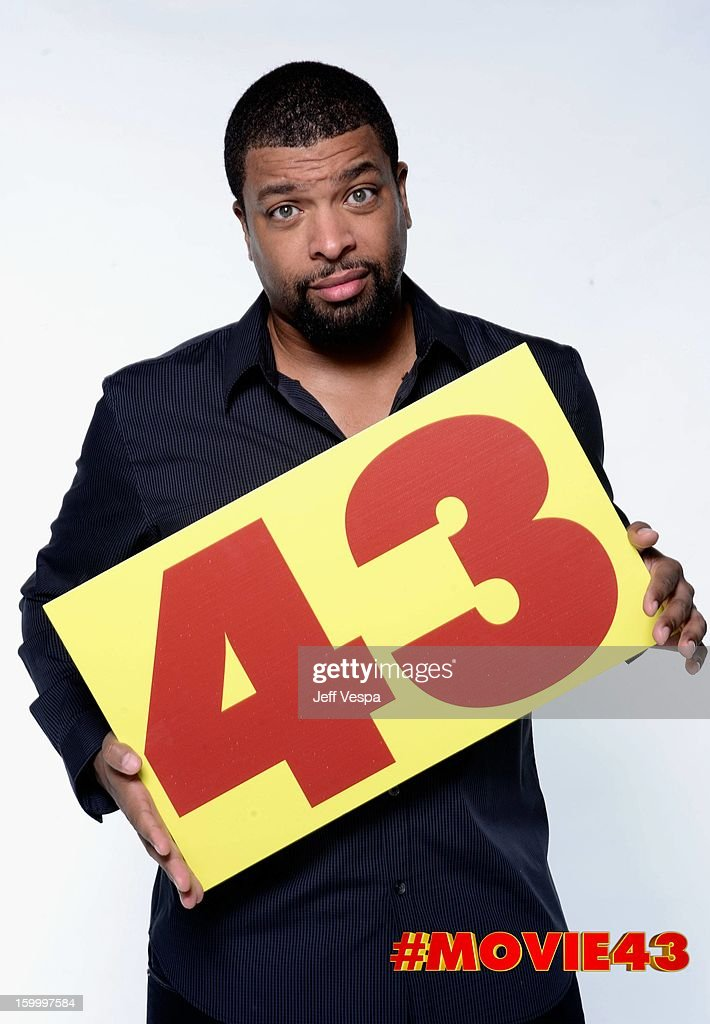 Actor DeRay Davis poses for a portrait during Relativity Media's 'Movie 43' Los Angeles premiere at TCL Chinese Theatre on January 23, 2013 in Hollywood, California.
