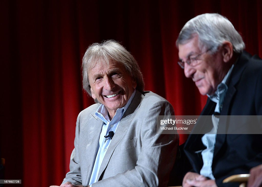 Actor Derek Bell and Race car driver Vic Elford attend 'Le Mans Behind the Scenes' special conversation during the 2013 TCM Classic Film Festival at...