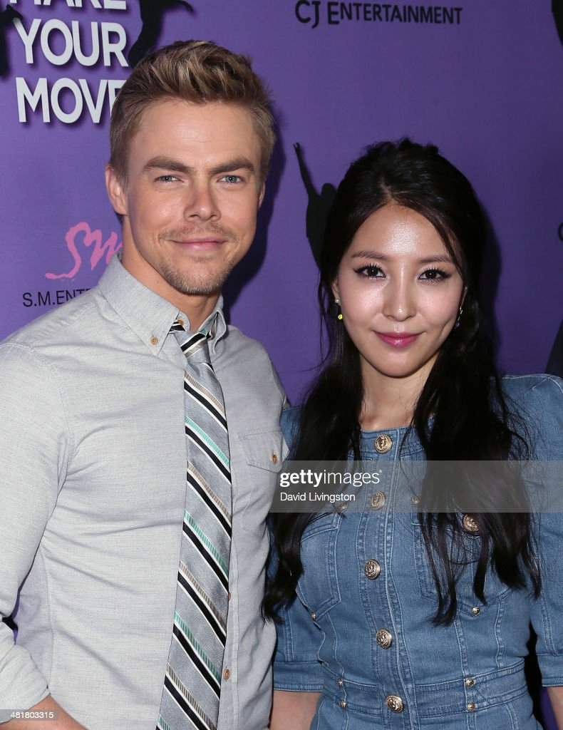 Actor <a gi-track='captionPersonalityLinkClicked' href=/galleries/search?phrase=Derek+Hough&family=editorial&specificpeople=4532214 ng-click='$event.stopPropagation()'>Derek Hough</a> (L) and singer BoA attend a screening of 'Make Your Move' at Pacific Theatre at The Grove on March 31, 2014 in Los Angeles, California.