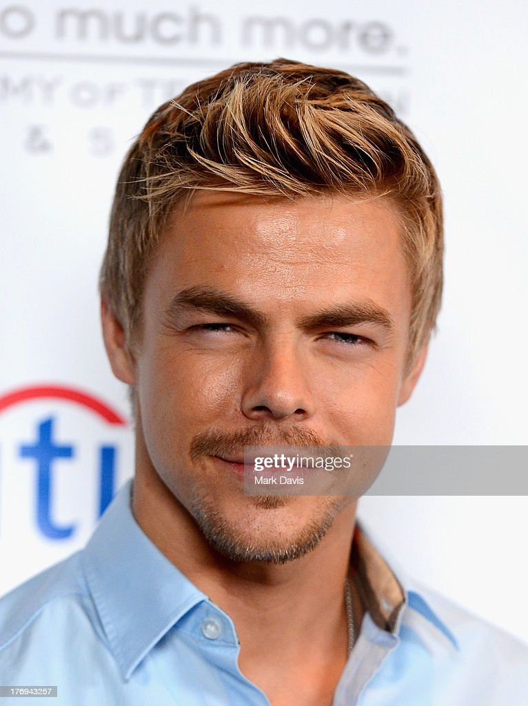 Actor <a gi-track='captionPersonalityLinkClicked' href=/galleries/search?phrase=Derek+Hough&family=editorial&specificpeople=4532214 ng-click='$event.stopPropagation()'>Derek Hough</a> arrives at the Academy of Television Arts & Sciences' Performers Peer Group cocktail reception to celebrate the 65th Primetime Emmy Awards at Sheraton Universal on August 19, 2013 in Universal City, California.