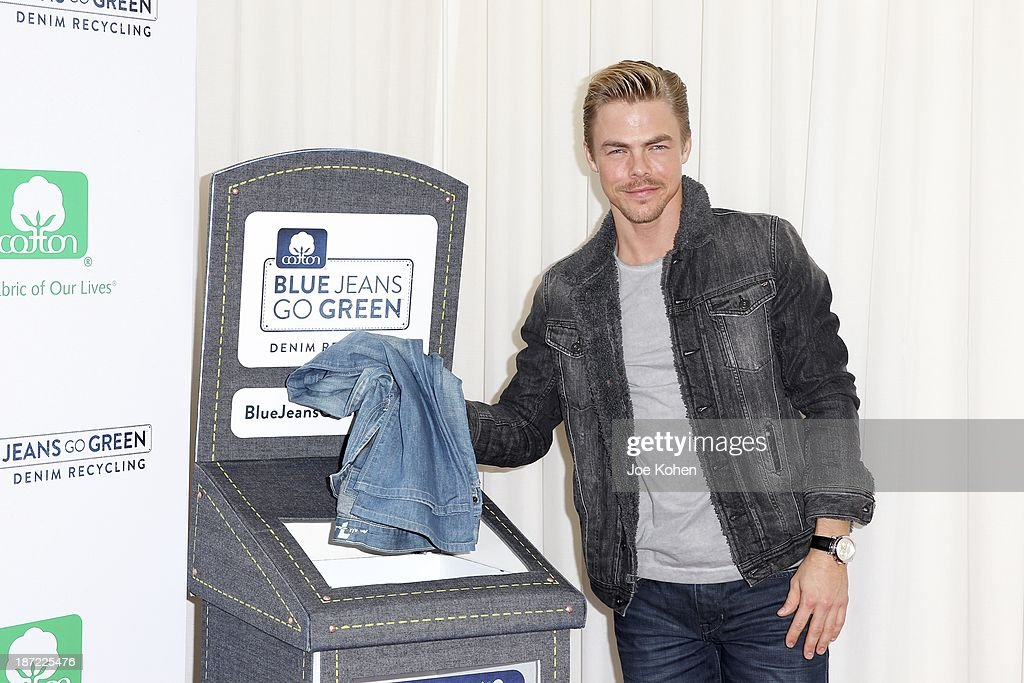 Actor <a gi-track='captionPersonalityLinkClicked' href=/galleries/search?phrase=Derek+Hough&family=editorial&specificpeople=4532214 ng-click='$event.stopPropagation()'>Derek Hough</a> attends Blue Jeans go green celebrates 1 Million pieces of denim collected for recycling hosted by Miles Teller at SkyBar at the Mondrian Los Angeles on November 6, 2013 in West Hollywood, California.
