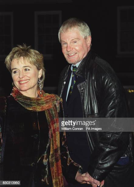 Actor Derek Jacobi and actresss Sinead Cusack arrive at London's historic Middle Temple Hall where Kenneth Branagh received the John Gielgud Golden...