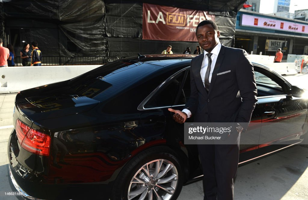 Actor <a gi-track='captionPersonalityLinkClicked' href=/galleries/search?phrase=Derek+Luke&family=editorial&specificpeople=244010 ng-click='$event.stopPropagation()'>Derek Luke</a> arrives at Focus Features' Premiere of 'Seeking A Friend For The End Of The World' at LA Live on June 18, 2012 in Los Angeles, California.