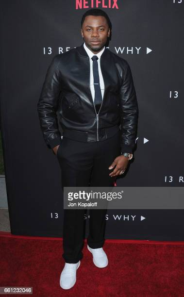 Actor Derek Luke arrives at the Los Angeles Premiere of Netflix's '13 Reasons Why' at Paramount Pictures on March 30 2017 in Los Angeles California