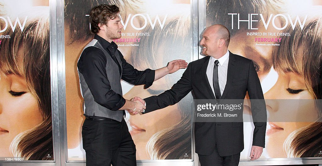 Actor Derek Theler (L) and director <a gi-track='captionPersonalityLinkClicked' href=/galleries/search?phrase=Michael+Sucsy&family=editorial&specificpeople=5769269 ng-click='$event.stopPropagation()'>Michael Sucsy</a> attend the Premiere of Sony Pictures' 'The Vow' at Grauman's Chinese Theatre on February 6, 2012 in Hollywood, California.