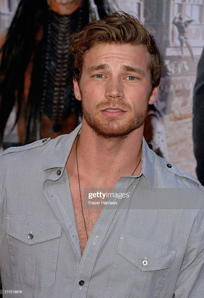 Actor Derek Theler arrive at the premiere of Walt Disney Pictures' 'The Lone Ranger' at Disney California Adventure Park on June 22, 2013 in Anaheim, California.