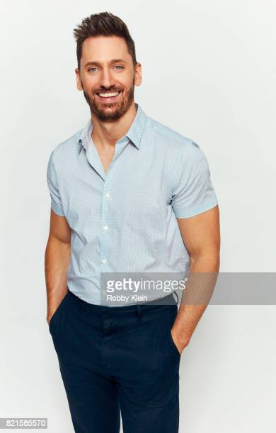 Actor Derek Wilson from Hulu's 'Future Man' poses for a portrait during ComicCon 2017 at Hard Rock Hotel San Diego on July 22 2017 in San Diego...