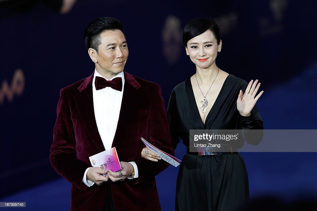Actor Deric Wan and Yvonne Yung Hung arrives at the closing ceremony red carpet during the 3rd Beijing International Film Festival at China National Convention Center on April 23, 2013 in Beijing, China.