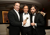 Actor Dermot Mulroney actor Gael Garcia Bernal winner of the Best Performance by an Actor in a Television Series Musical or Comedy award for 'Mozart...