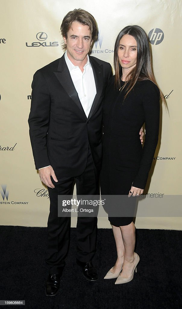 Actor Dermot Mulroney and actress Tharita Catulle arrive for the Weinstein Company's 2013 Golden Globe Awards After Party - Arrivals on January 13, 2013 in Beverly Hills, California.