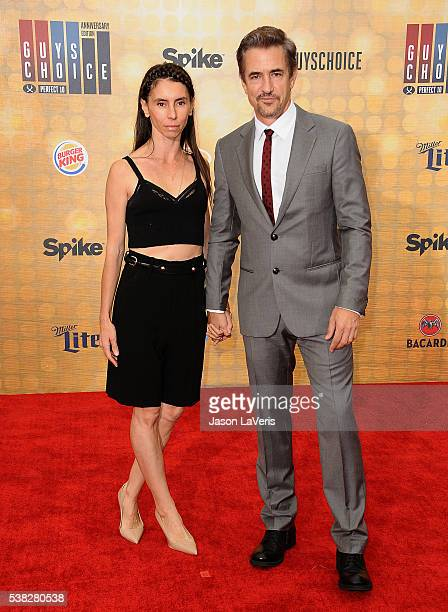 Actor Dermot Mulroney and wife Tharita Cesaroni attend Spike TV's Guys Choice 2016 at Sony Pictures Studios on June 4 2016 in Culver City California